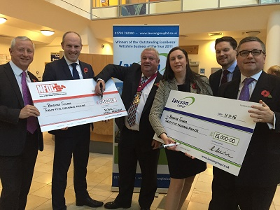Swindon MPs Join Forces With Local Businesses To Present £50,000 Cheque To Brighter Futures Radiotherapy Campaign