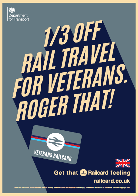 Government Launches New Veterans Rail Card