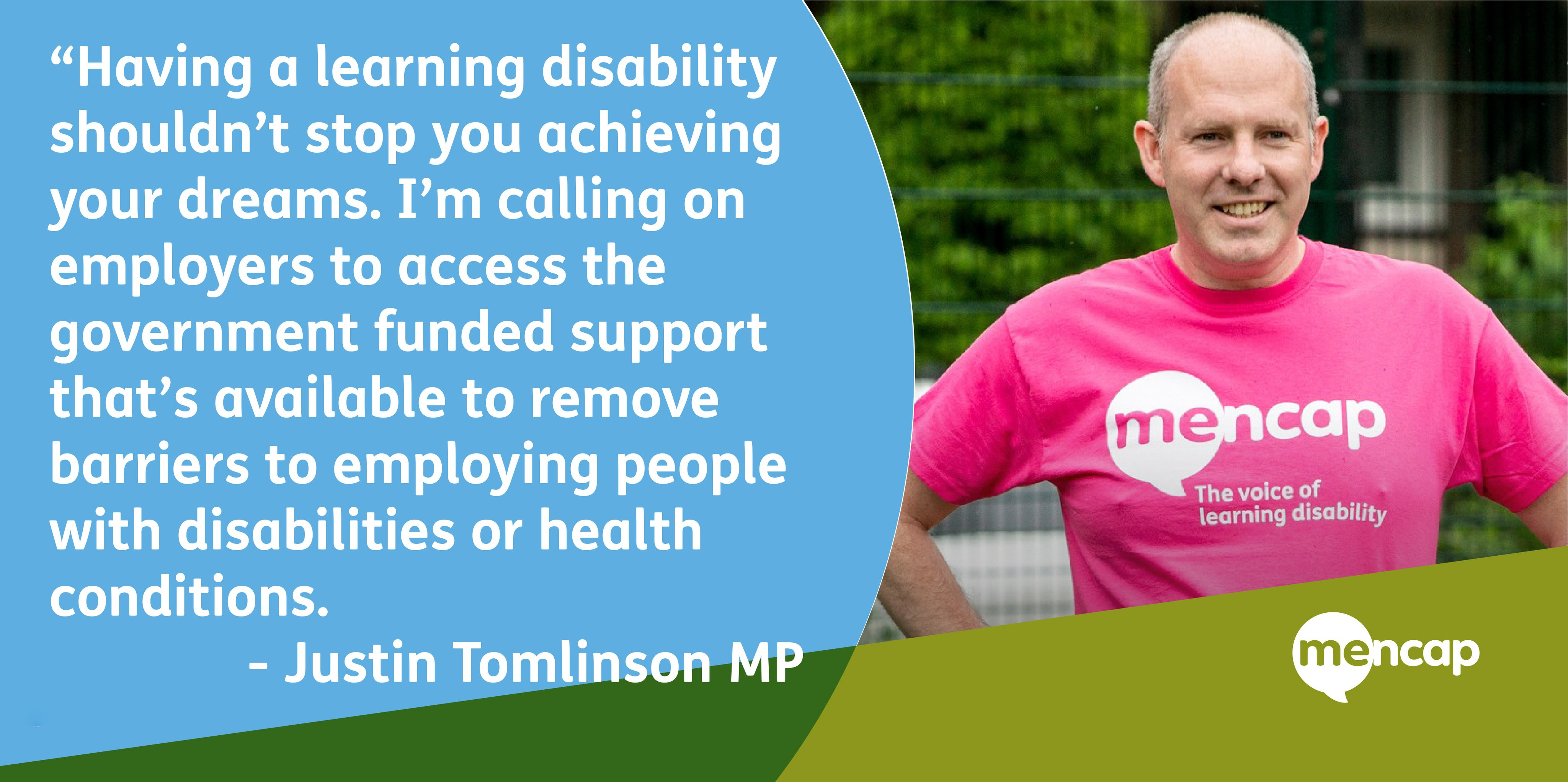 Justin Asks Employers to #thinkdifferently For National Learning Disability Work Week
