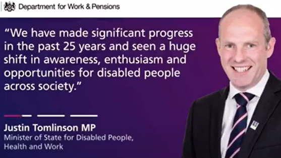 Justin Celebrates 25th Anniversary Of The Disability Discrimination Act