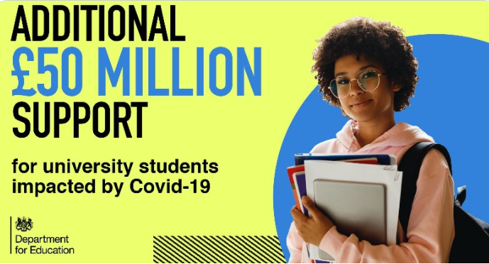 Government Announces £50 Million To Support Students Impacted By Covid-19