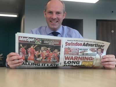 Swindon Advertiser Column - I Will Do All I Can To Support The Oasis