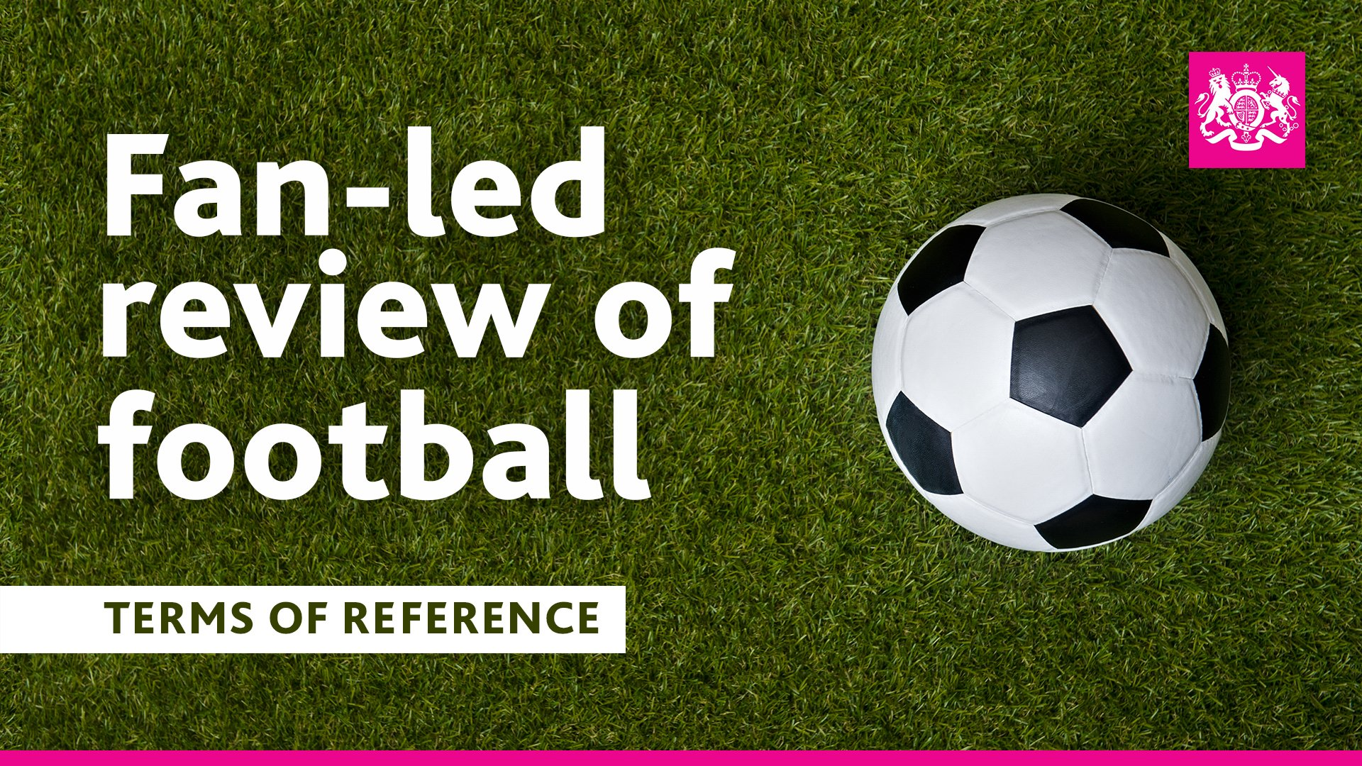 Government announces terms of reference for fan-led review of football