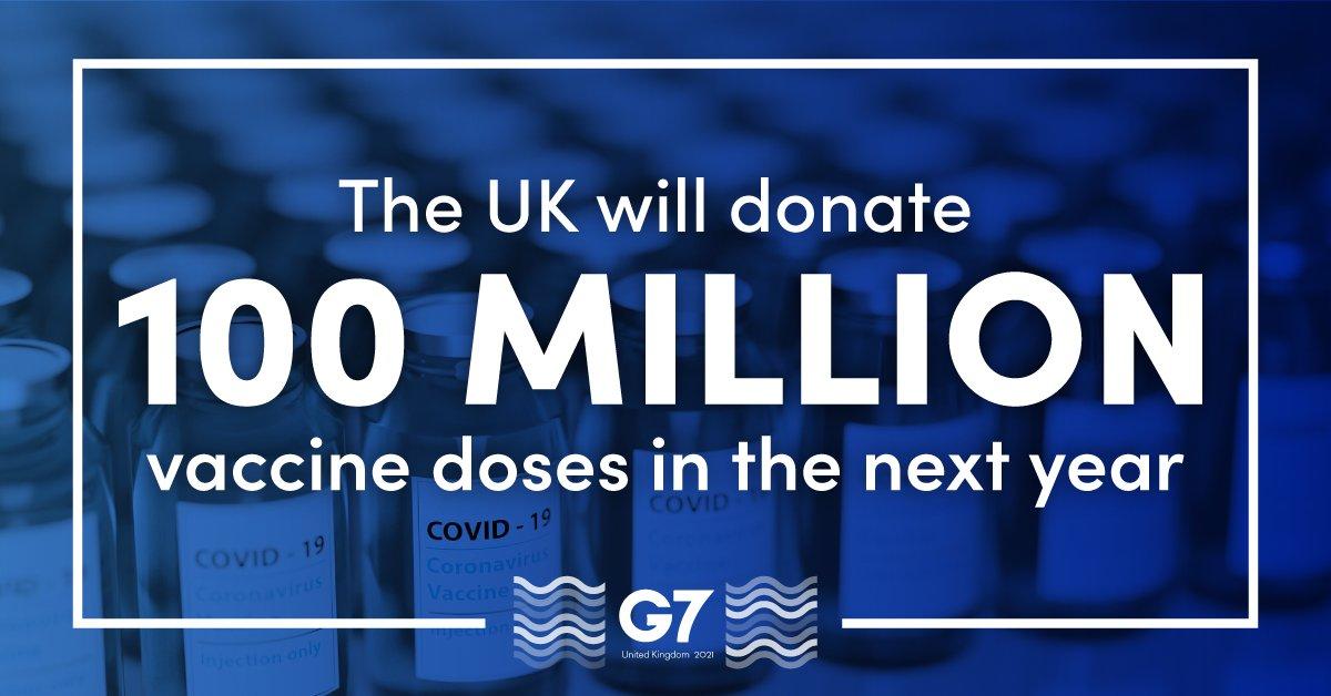 UK To Donate 100 Million Coronavirus Vaccine Doses