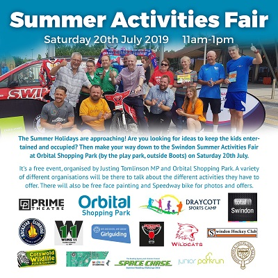 Justin Tomlinson MP To Host Annual Summer Activities Fair On 24th July