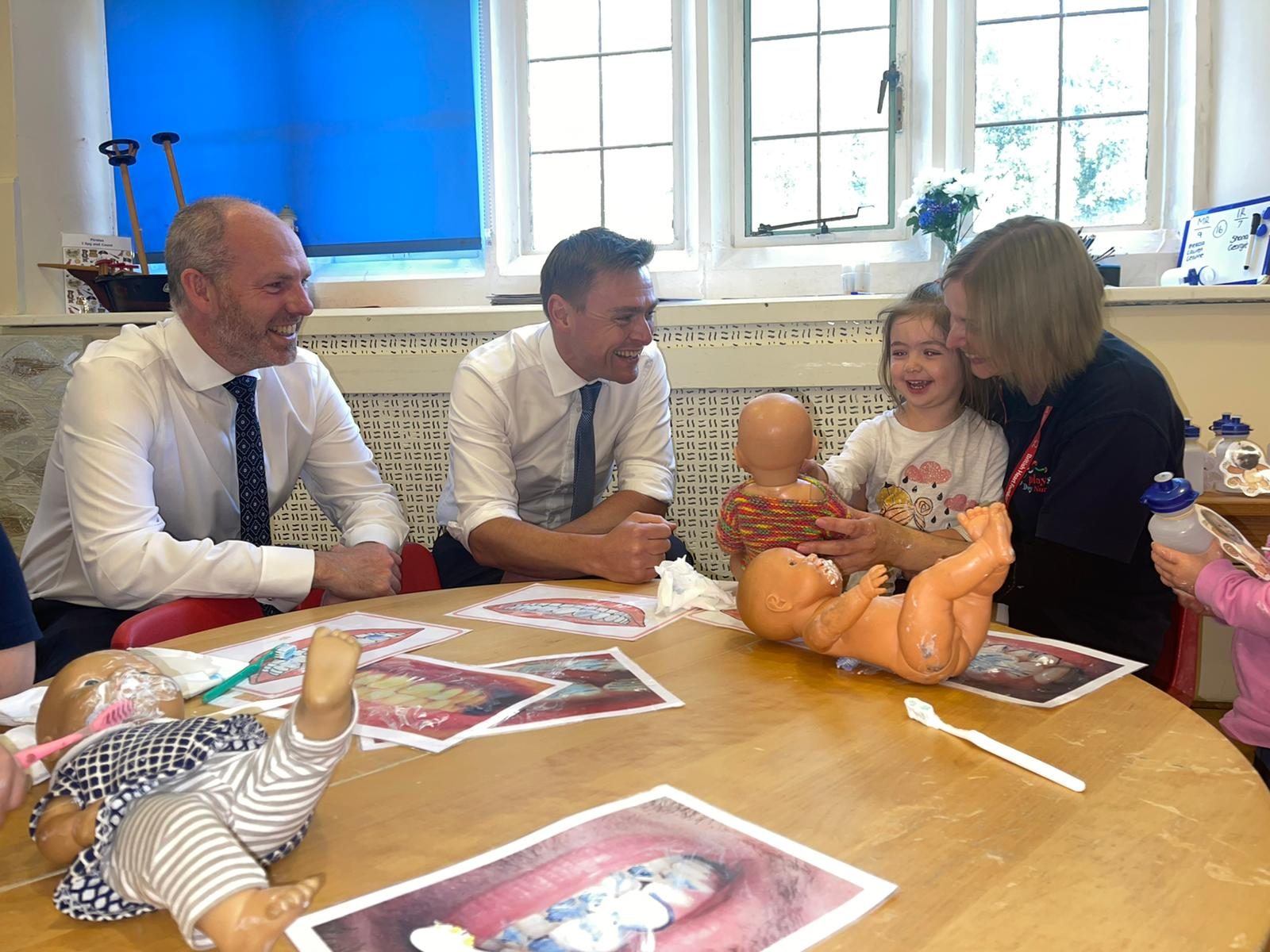 North Swindon MP Justin Tomlinson Welcomes Education Minister To Swindon
