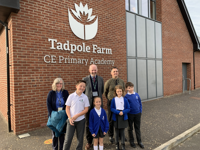 Justin Visits Tadpole Farm CE Primary Academy